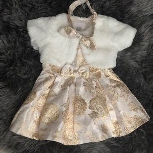 Other - Baby girl 9-12 Mth Fancy Dress, Fur Coat, Headband